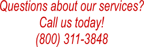 Questions about our services?